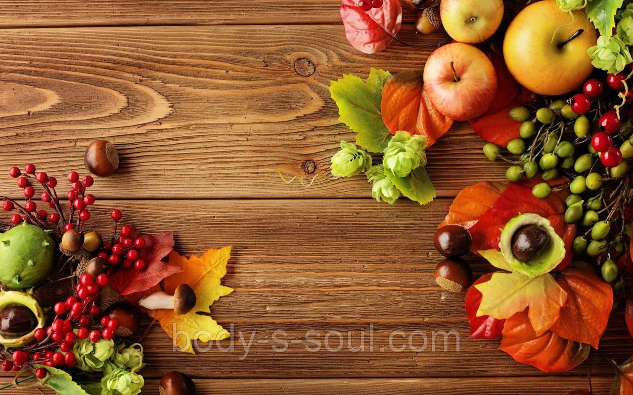 Фотофон вініловий, яблука осінь
