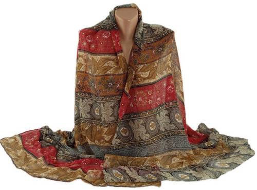 Шикарная легкая шаль-парео, хлопок, 180х95 см, Traum 2498-30, разные цвета.