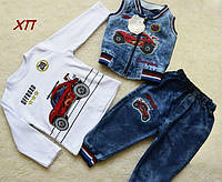 Стильный джинсовый костюм для мальчика на 1 год
