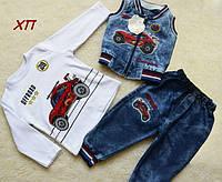 Стильный джинсовый костюм для мальчика