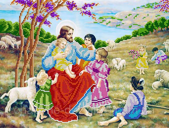 """Схема для вышивки бисером икона """"Иисус Христос и дети"""", фото 2"""