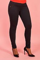 Лосины женские  большого размера тёплые чёрный цвет