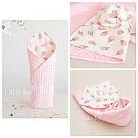 """Конверт-одеяло на выписку для новорожденной """"Pink Ice Cream"""""""
