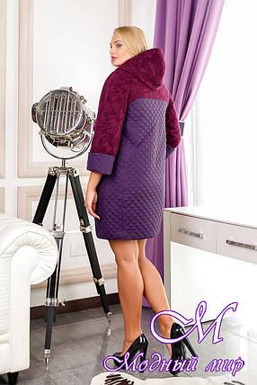 Стеганное жіноче демісезонне пальто (р. 44-60) арт. 971 Тон 102, фото 2