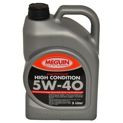 Синтетическое моторное масло MEGUIN MEGOL MOTORENOEL HIGH CONDITION 5W-40 5L
