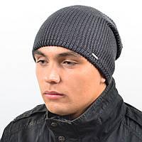 Мужская удиненая шапка NORD серый