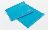 Лента для пилатеса zelart (эласт. лента) (р-р 1,5м x 15см x 0,35мм)  ( синий )