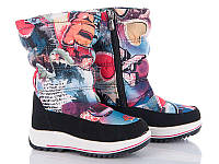 Новая коллекция зимней обуви оптом. Детская зимняя обувь бренда Caroc для девочек (рр. с 27 по 32)