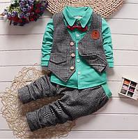Костюм осенний детский штаны и рубашка для мальчика