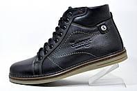 Кожаные мужские ботинки Kardinal, зимние с мехом