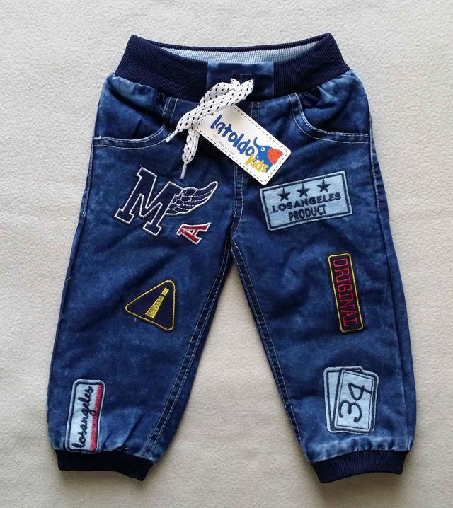 Теплые детские джинсы на махре для мальчиков 2-4 года Турция