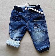 Теплі дитячі джинси на махре для хлопчиків 6-18 міс Туреччина
