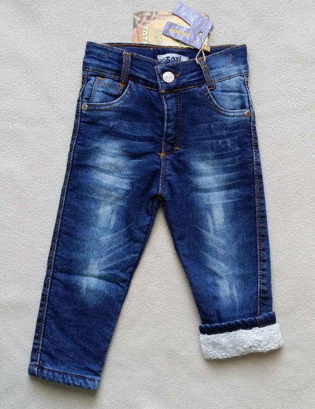 Теплые детские джинсы на махре Tati для мальчиков 1-4 года Турция оптом