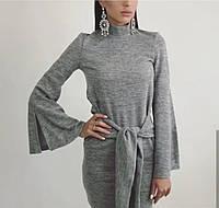 Платье ангора батал 48-50р длинна 100см серый