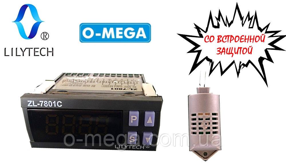 Регулятор влажности температуры и переворота яиц в инкубаторе PID контроллер LILYTECH ZL-7801C
