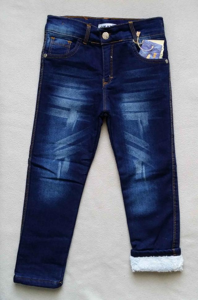 Теплые детские джинсы на махре Tati для мальчиков 5-8 лет Турция оптом
