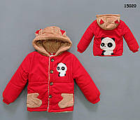 "Демісезонна куртка ""Панда"" для хлопчика. 80, 100 см"