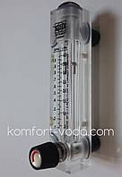 """Ротаметр панельного типа Z-300KT1, 1/2"""", 0.5-4 л/мин (с регулятором потока), фото 1"""
