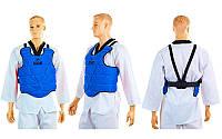 Защита корпуса (жилет) для каратэ детская EVERLAST BO-3951 (PU, р-р XXS-L, красный, синий), фото 1