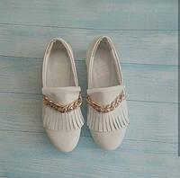 Женские туфли Allure на платформе кожаные белые 0108АЛМ