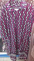 Велюровый женский халат, Турция,большие размеры