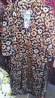 Велюровый женский халат, Турция,батал