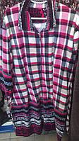 Женский велюровый халат, Турция, батал