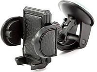 Подставка держатель телефона PH-604 CarLife, 40-95мм/ 360°, жесткая ножка