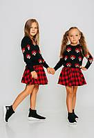 Джемпер для девочек с цветочной вышивкой JoJo