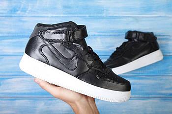 Мужские кроссовки Nike Air Force Mid Lab CMFT (Найк Аир Форс) черные