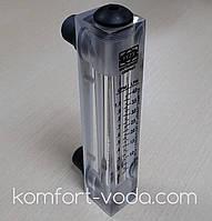 """Ротаметр панельного типа Z-300K1, 1/2"""", 0.5-4.0 л/мин (без регулятора потока), фото 1"""