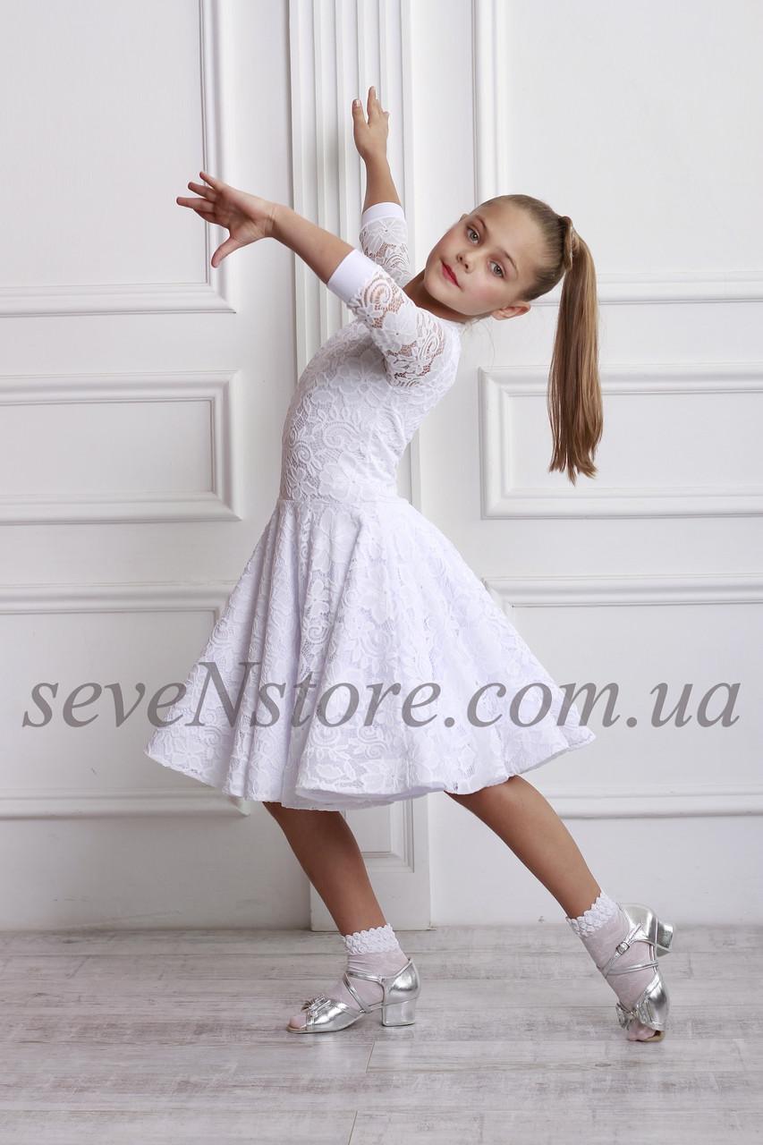 Рейтингове плаття Бейсік для бальних танців Sevenstore 9101 Білий