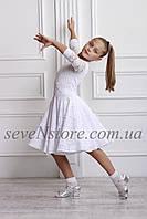 Рейтинговое платье Бейсик для бальных танцев Sevenstore 9101 Белый 38