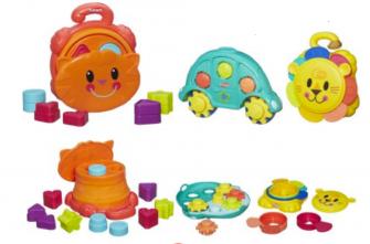 Подарочный набор из 3 игрушек для развития с 6 мес до 2 лет, Playskool Busy Baby Gift Set