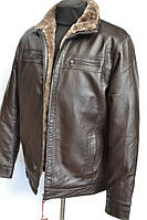 Зимние мужские куртки кож заменитель  № 505 А