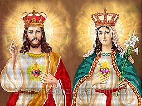 """Схема для вышивки бисером икона """"Иисус Христос и Дева Мария"""""""