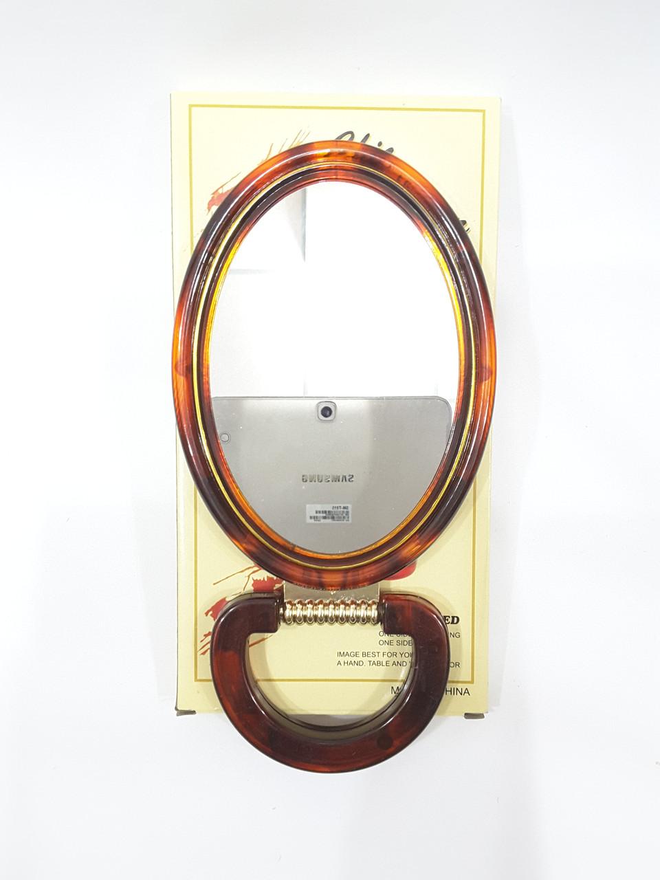 Зеркало настольное овальное двухстороннее 15 см
