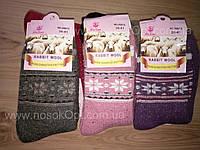 Носки женские зимние Rabbit wool снежинка (ангора махра) опт