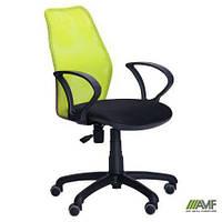 Кресло Oxi/АМФ-4 сиденье Сетка черная/спинка Сетка лайм (механизм FreeStyle, макс. вес до 120 кг) ТМ AMF 261129