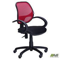 Кресло Байт/АМФ-5 сиденье Сетка черная/спинка Сетка красная (механизм FreeStyle, макс. вес до 120 кг) ТМ AMF 116969