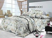 Двуспальный комплект постельного белья евро 200*220 сатин (8157) TM KRISPOL Украина