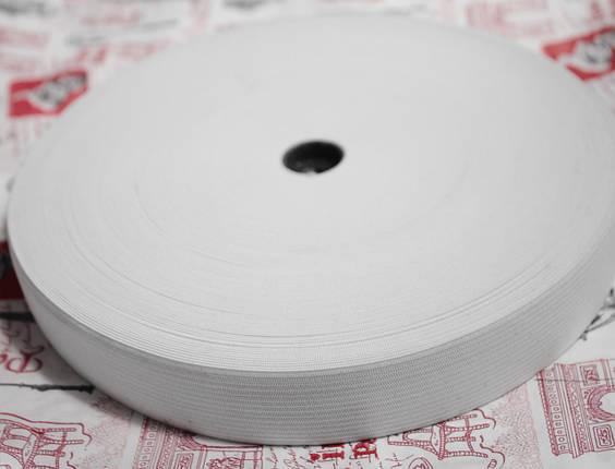 Резинка текстильная белая плотная 4см, 25м , фото 2