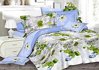 Двуспальный комплект постельного белья евро 200*220 сатин (8243) TM KRISPOL Украина