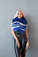Красивый женский шарф из натурального меха