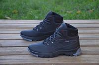Зимние подростковые кожаные ботинки Walker черные