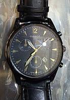 Мужские наручные часы Tissot (Тиссот) черные с чёрным циферблатом