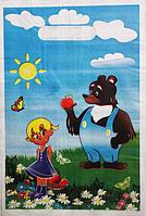 """""""Пакет полиэтиленовый Типа Банан. """"Маша и Медведь"""" упаковка 100 шт. Ширина: 20 см. Высота: 30 см."""""""