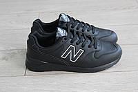New balance 996, кроссовки женские, цвет черный кожа