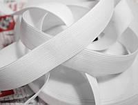 Резинка текстильная белая плотная 6см, 25м