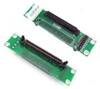 УЦЕНКА. Адаптер SCA 80 — SCSI 68-Pin (перевернутый разъем 68 pin) нуждается в перепайке разъема, фото 1